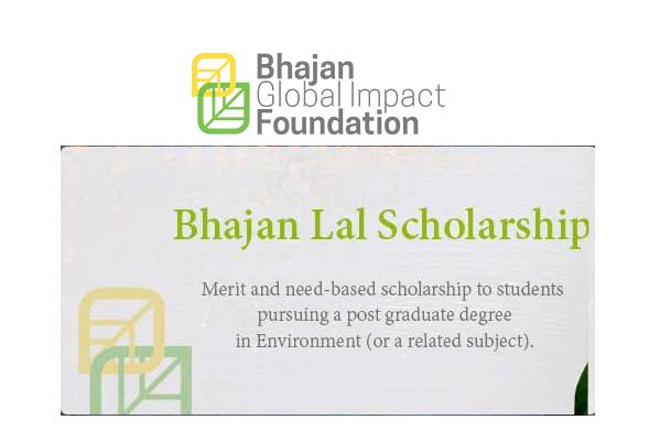 BHAJAN LAL SCHOLARSHIP 2019