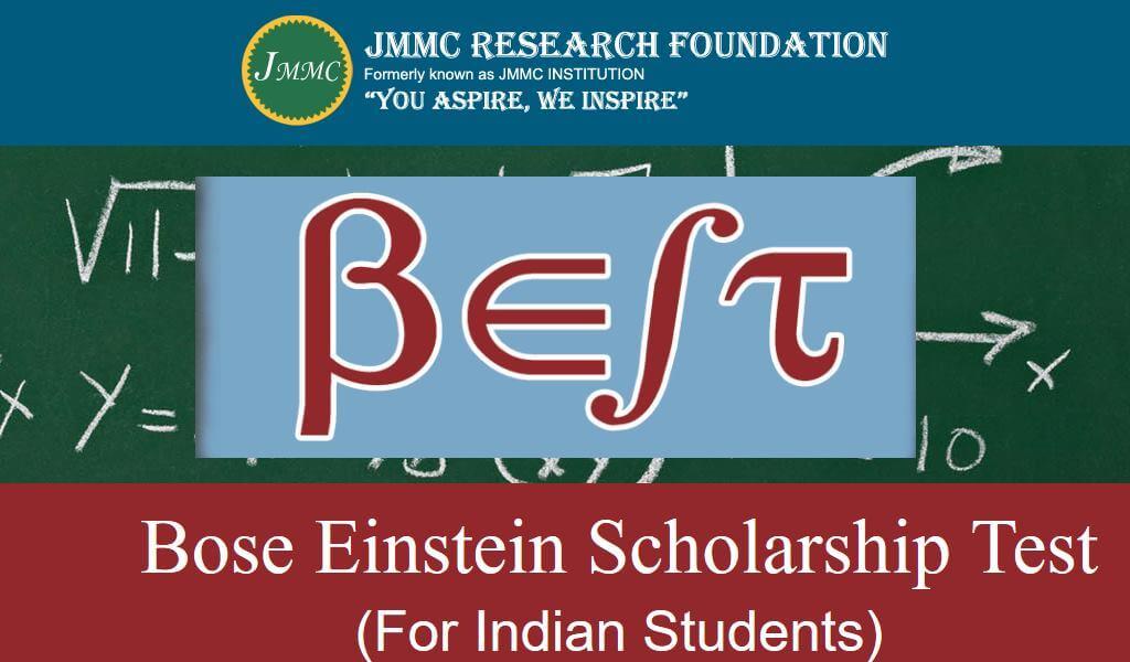Bose Einstein Scholarship Test 2019