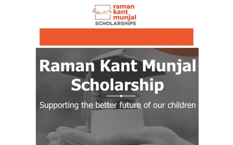 Raman Kant Munjal scholarship for Degree and Diploma Courses 2019