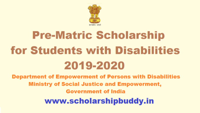 Class IX, X Scholarship for Students with disabilities 2019-20