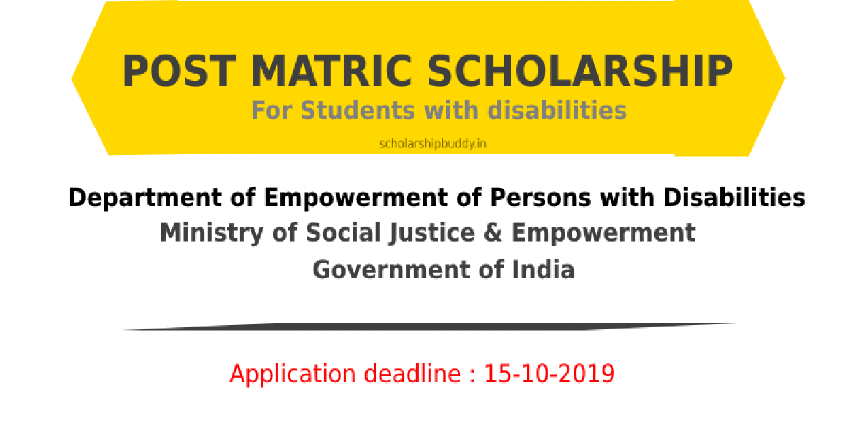 Post Matric Scholarship for Students with Disabilities 2019-2020