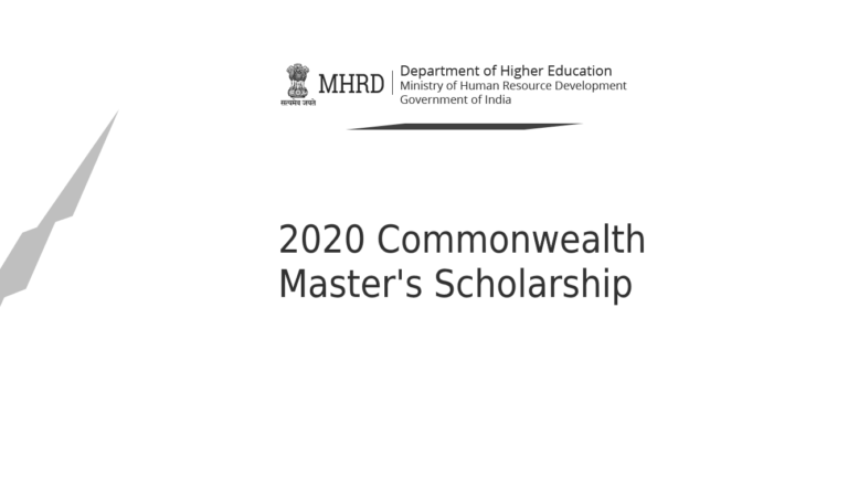 2020 Commonwealth Master's Scholarship