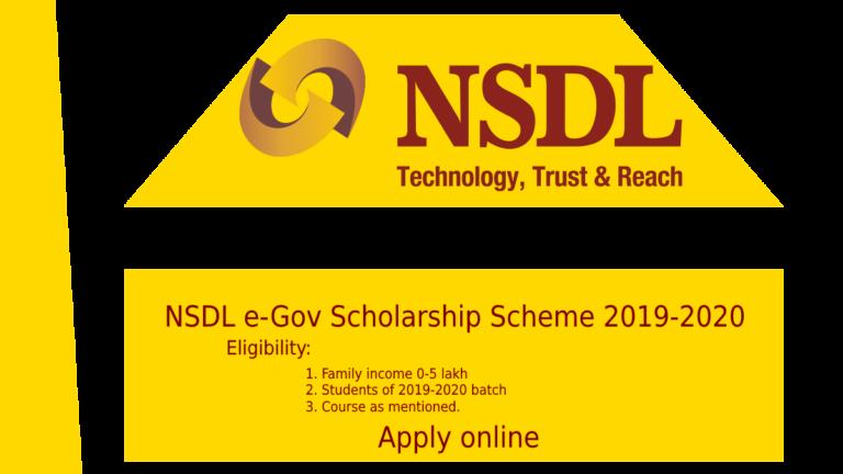 NSDL e-Gov Scholarship Scheme 2019