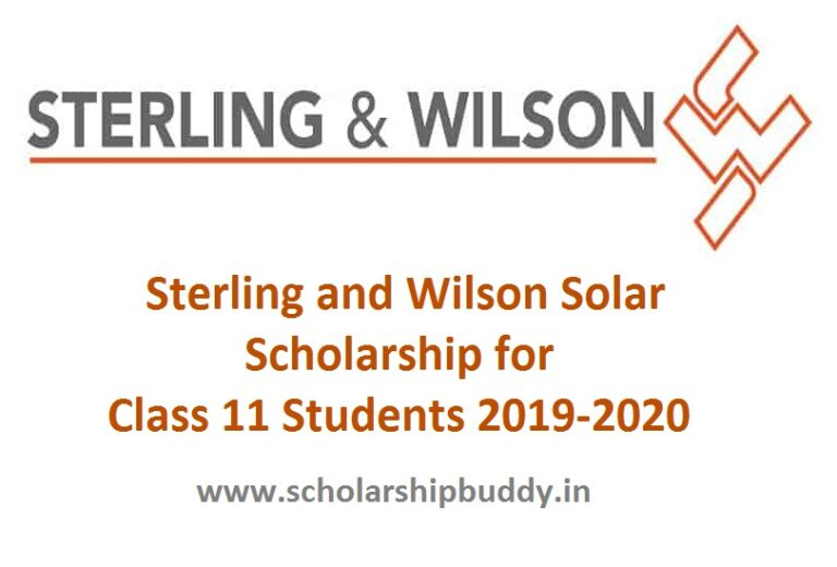 Sterling and Wilson Solar Scholarship for Class 11 Students 2019-2020