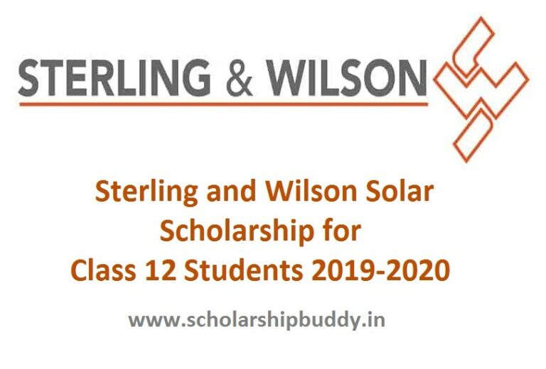 Sterling and Wilson Solar Scholarship for Class 12 Students 2019-2020