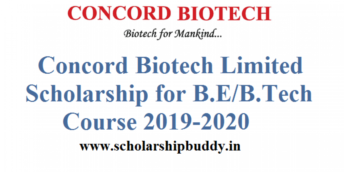 Concord Biotech Limited Scholarship for B.E/B.Tech Course 2019-2020