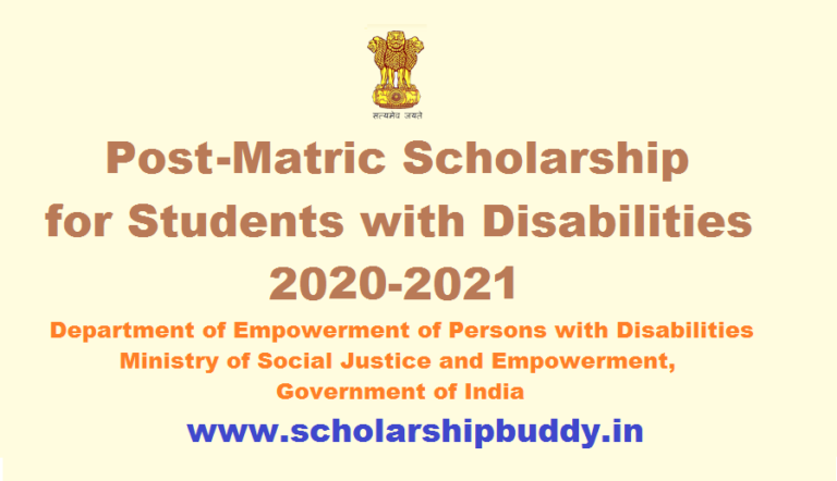 Post Matric Scholarship for Students with Disabilities 2020-2021 How to Apply, Eligibility, Benefits, Application form
