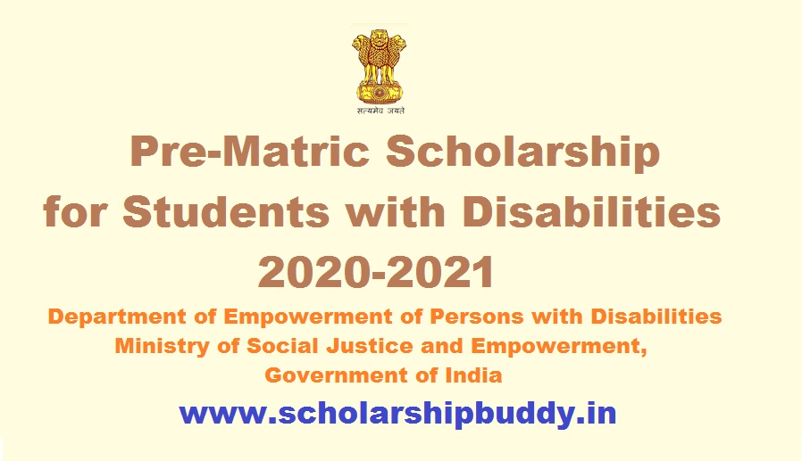 Pre-Matric Scholarship for Students with Disabilities 2020-2021 Eligibility, Benefits, How to Apply, Application Form