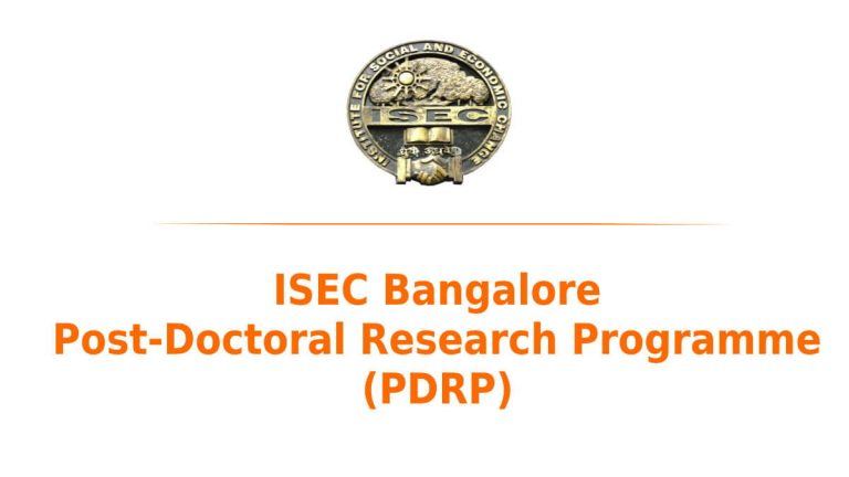 ISEC Bengaluru Post-Doctoral Research Programme (PDRP) 2021